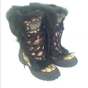 Womens size 6 coach snow boots for Sale in Marysville, WA