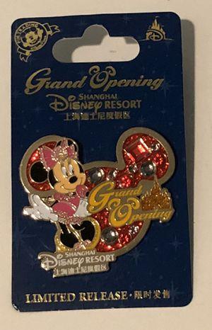 New Disney Shanghai Resort Grand Opening MINNIE Pin for Sale in San Jacinto, CA