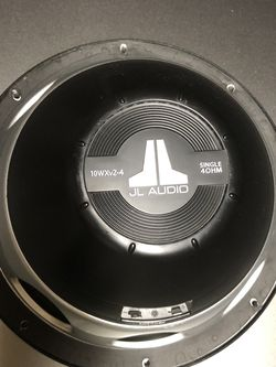 JL Audio 10WXv2-4 ,Single Coil ,4 Ohm 10 Inch Subwoofer for Sale in Clovis,  CA
