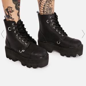 TUK Black Platform Boots Size 7 for Sale in Oklahoma City, OK