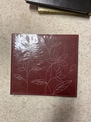 Red leatherette floral scrapbook for Sale in Metamora, IL
