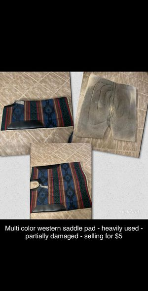 Multi color western saddle pad for Sale in Winter Haven, FL