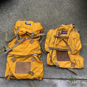 Vintage Jansport Backpacking Backpacks Yellow for Sale in Tacoma, WA
