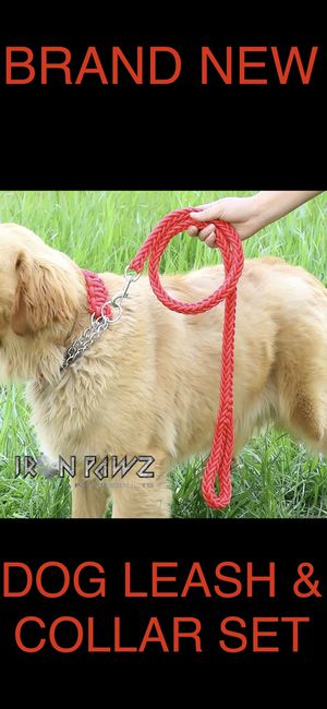 Iron Pawz Heavy Duty Professional Training Dog Leash and Collar Set Red for Sale in Avondale, AZ