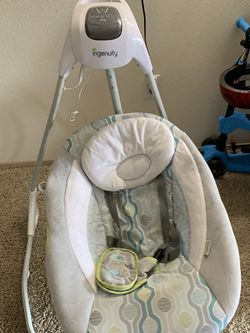 Ingenuity SimpleComfort Cradling Plug-In Swing with Soothing Vibrations- Everston for Sale in Vancouver,  WA