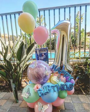 Butterfly balloon bouquet for Sale in Santa Ana, CA