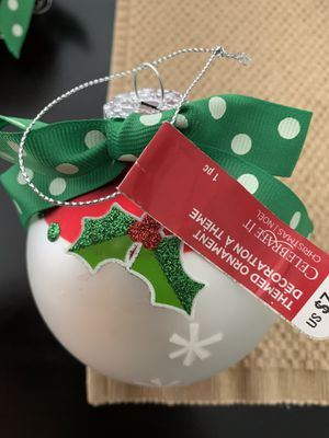Christmas ornaments - set of 2 for Sale in Chino, CA