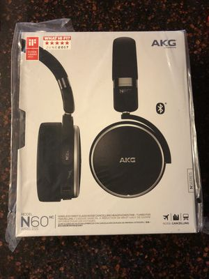 Brand new sealed AKG N60 NC Bluetooth headphones still in plastic! Compatible with android, Apple, beats audio for Sale in Largo, FL