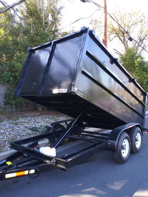 BRAND NEW DUMP TRAILER HEAVY DUTY12,000 LBS 8X12X4 HIGH,NEVER BEEN USED I HAVE THE TITLE IN HAND for Sale in Los Angeles, CA