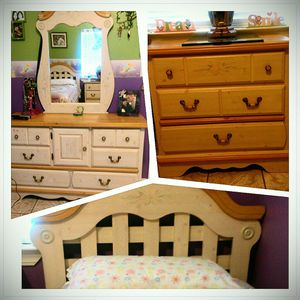 2 Twin Bed Frames, Vanity, and Dresser for Sale in Santa Maria, CA