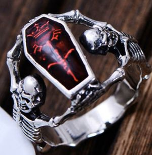 Epoxy Coffin Ring Wedding Rings Punk Style Unisex Bridal Fine SZ 11 for Sale in Los Angeles, CA