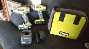 New Ryobi lithium 18volt drill and impact. With 2batteries charger and bag. for Sale in Whittier, CA