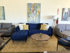 Mid Century Modern FurnitureNavy Blue Sectional Sofa for Sale in Houston, TX