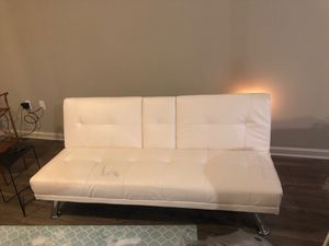 Faux leather futon for Sale in Clearwater, FL