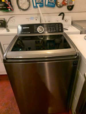 Samsung stainless steel top load washer excellent condition 4months warranty for Sale in Halethorpe, MD