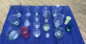 Large set of glass vases of various shapes and sizes for Sale in Mechanicsburg, PA