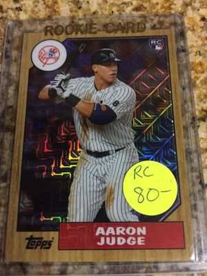 Baseball cards, Aaron Judge Rookie $40 for Sale in Los Angeles, CA