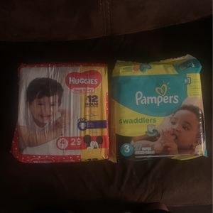 Huggies Size 4 And Pampers Size 3 Diapers for Sale in Oceanside, CA