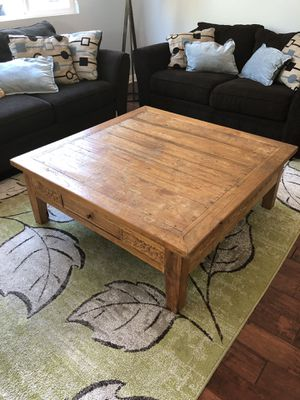 Reclaimed Teak Carved Coffee Table - Indonesian for Sale in San Diego, CA