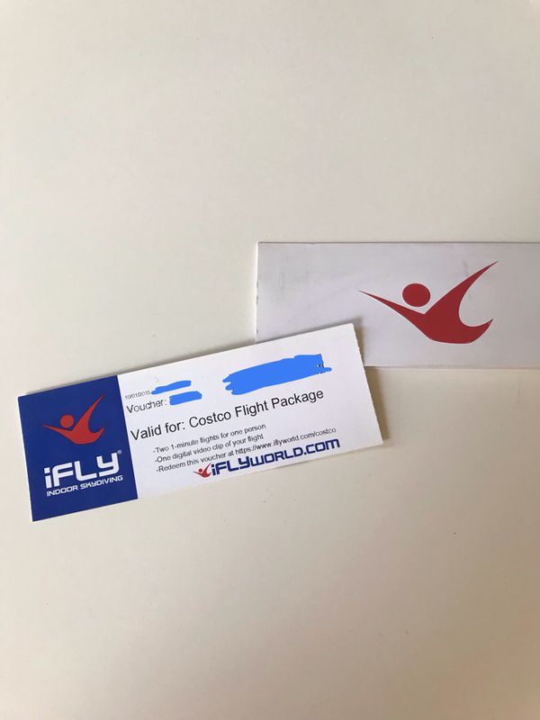 iFly Gift Certificate (2 flights and digital video clip)
