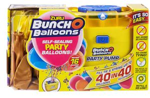 Party balloon and pump - 72 self sealing ballons for Sale in Bridgeport, CT