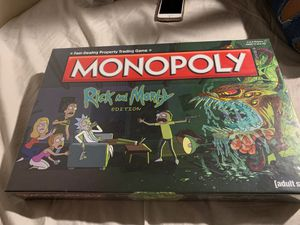 Monopoly Board Game (Rick and Morty Edition) for Sale in Long Beach, CA