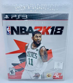 NBA 2K18 Sony PlayStation 3 PS3 Brand New Factory Sealed NBA Basketball Kyrie Irving for Sale in Puyallup, WA