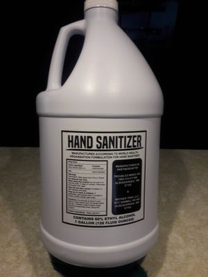 Hand sanitizer 80% one gallon for Sale in Albuquerque, NM