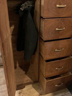 Vintage Wooden Armoire 1950s, 1960s Made by Huntley Furniture for Sale in Brooklyn,  NY