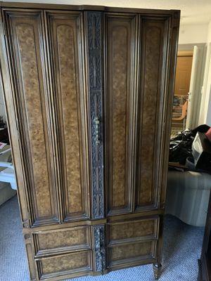 Antique wooden armoire for Sale in Pompano Beach, FL