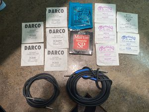 Guitar Strings and Audio Amp Cord's for Sale in Portland, OR