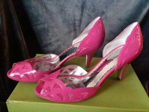 Gianni Bini Sexy Hot Ally Pink Goldy679 Women's 9.5 9 1/2 M Open Toe Pumps Shoes for Sale in Portsmouth, VA