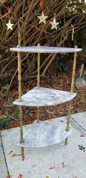 Marble and Brass Corner Accent Table for Sale in San Jose, CA