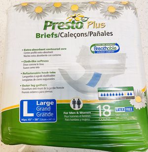 Adult Diaper/Briefs - LARGE for Sale in Long Beach, CA