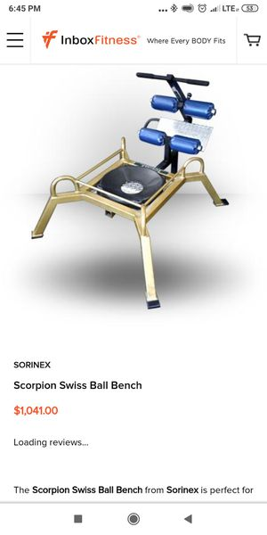 Sorinex bench very high-quality piece of equipment small compact multiple uses for Sale in Miami, FL