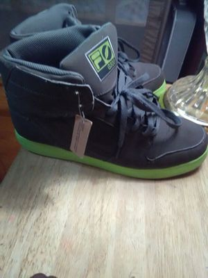 Suede and lime green high top Filas size 10 1/2 for Sale in Philadelphia, PA