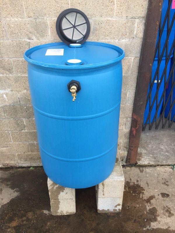 55 gallon Food-Grade Bright & Opaque Blue (repurposed ...