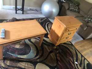 Center table and night stand - sturdy for Sale in Cashmere, WA
