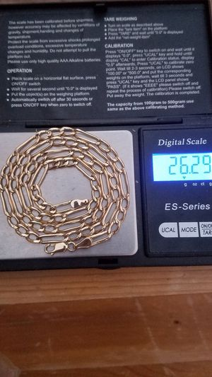 14k real gold solid chain 26.29 grams . 24 inches long . 5mm .firm price . firm price for Sale in Phoenix, AZ
