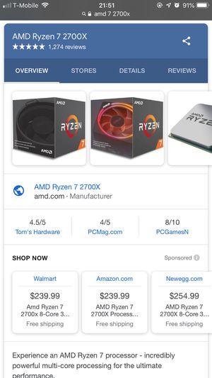 AMD 7 2700x for Sale in Pomona, CA