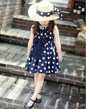 1PC Girl Polka Dot Chiffon Sundress Lovely Princess dress for Sale in Arlington, TX