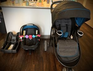 Graco 3-in-1: Baby seat, car seat, stroller combo (less than one year use, perfect condition) for Sale in Plano, TX