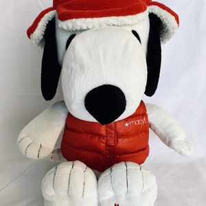 """MACY'S Holiday Special Edition SANTA SNOOPY 2015 Peanuts Plush Animal 19"""" EUC for Sale in Highlands Ranch, CO"""