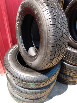 Set 225/70/16 Bridgestone Dueler H/T used $260 Includes installation and balance for Sale in Montebello, CA