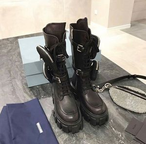 Prada Leather Women's Military Boots size 39 for Sale in Miami, FL