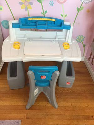 Step2 kid desk blue gray toddler kids table for Sale in Covina, CA