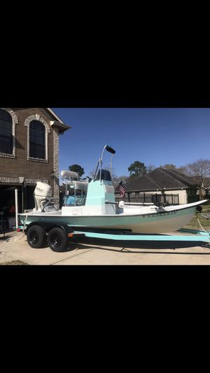"Low sides flats boat. ""Destiny"" brand new Suzuki 140 for Sale in San Leon, TX"