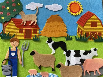 Toddler Kid Farm Felt Story Board for Sale in Monroe,  WA