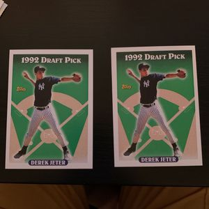(2) Derek Jeter Rookie Cards for Sale in Gilroy, CA