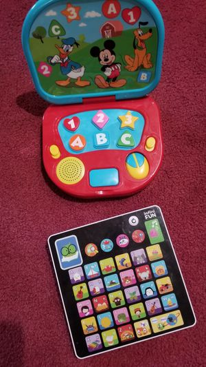2 electronic learning toys for baby toddler kids for Sale in Upland, CA